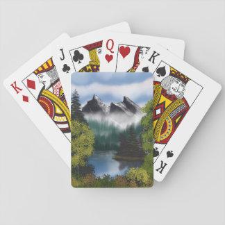 Ansicht der nebelhaften Berge Spielkarten