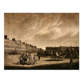 Ansicht der Nordseite Grosvenor Quadrats, 1789 Postkarte