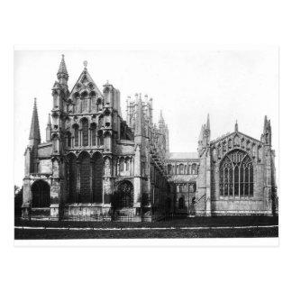 Ansicht der Ostfassade und des Chores, c.1321-40 Postkarte