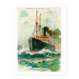 Ansicht der Patricia in Meer, Hamburg-Amerika Postkarte