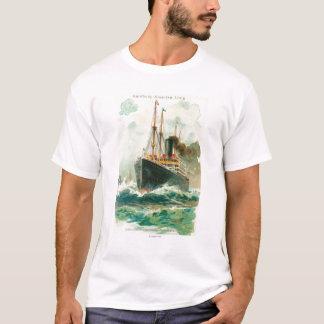 Ansicht der Patricia in Meer, Hamburg-Amerika T-Shirt