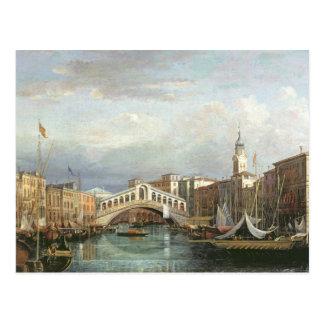 Ansicht der Rialto Brücke in Venedig Postkarten