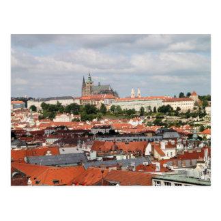 Ansicht der schönen Stadt von Prag Postkarte