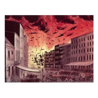 Ansicht der schrecklichen Explosion am großen Postkarte