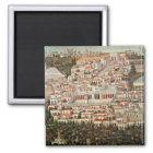 Ansicht der Stadt von Damaskus Quadratischer Magnet