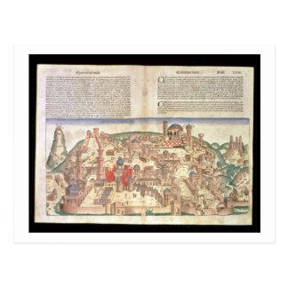 Ansicht der Stadt von Jerusalem, vom Nürnberg Postkarte