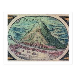 Ansicht der Stadt von Potosi, Bolivien, mit seinem Postkarte