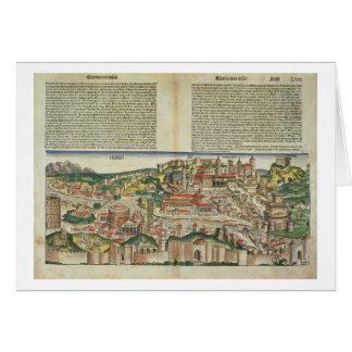 Ansicht der Stadt von Rom, vom Nürnberg Chron Karte