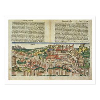 Ansicht der Stadt von Rom, vom Nürnberg Chron Postkarte