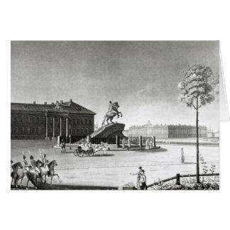 Ansicht der Statue von Peter der Große Karte