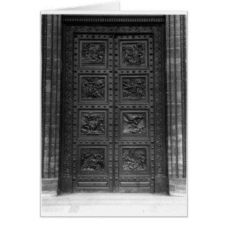Ansicht der Tür von La Madeleine Grußkarte