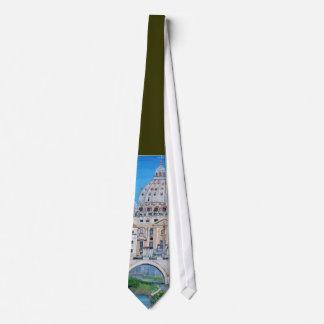 Ansicht der Vatikanstadt-Krawatte Bedruckte Krawatten
