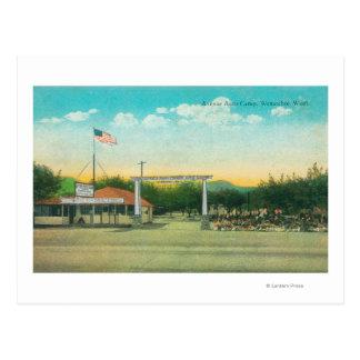 Ansicht des Alleen-Auto-Lager-Eingangs Postkarte