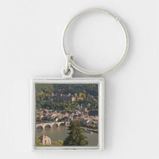 Ansicht des Alte Brucke oder alte Brücke Silberfarbener Quadratischer Schlüsselanhänger
