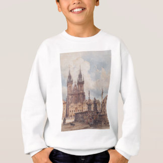 Ansicht des alten Rathausplatzes mit der Kirche Sweatshirt