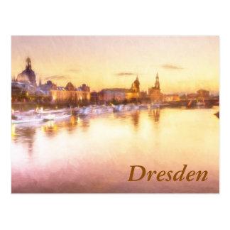 Ansicht des Altstadt über der Elbe in Dresden Postkarte