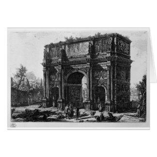 Ansicht des Bogens von Constantine durch Giovanni Karte