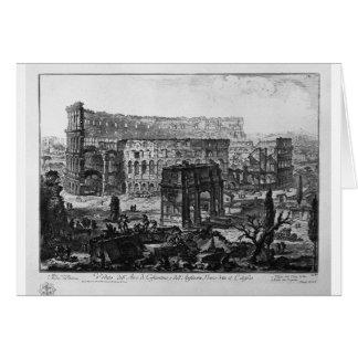 Ansicht des Bogens von Constantine und von Flavian Karte
