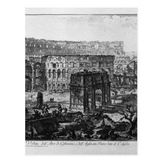 Ansicht des Bogens von Constantine und von Flavian Postkarte
