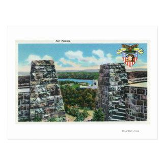 Ansicht des Forts Putnam Postkarte