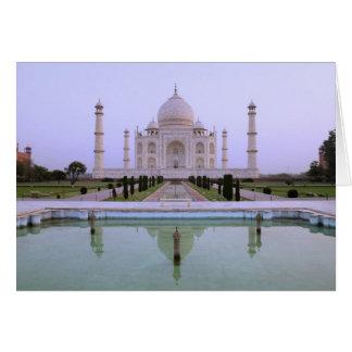 Ansicht des frühen Morgens des Taj Mahals Karte