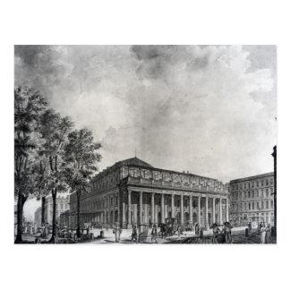 Ansicht des großartigen Theaters, Bordeaux Postkarte