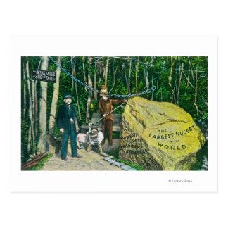 Ansicht des größten Goldnuggets in der Welt Postkarte