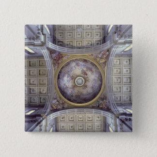 Ansicht des Innenraums der Kuppel, im Jahre 1425 Quadratischer Button 5,1 Cm