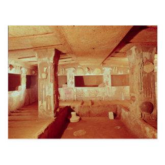 Ansicht des Innenraums des Grabs Postkarte