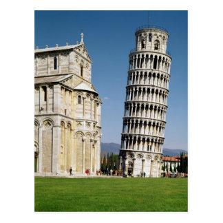 Ansicht des lehnenden Turms Postkarte