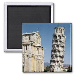 Ansicht des lehnenden Turms Quadratischer Magnet