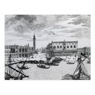 Ansicht des Marktplatzes San Marco vom Bacino, Postkarte