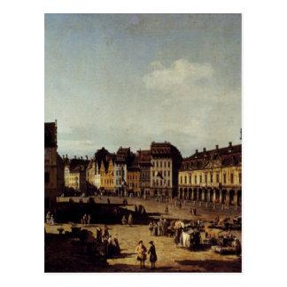 Ansicht des Markts-Marktplatzes in Dresden Postkarte