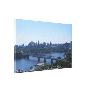 Ansicht des Ottawa-Leinwand-Druckes Leinwanddruck
