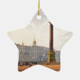 Ansicht des Palast-Quadrats und des Keramik Stern-Ornament