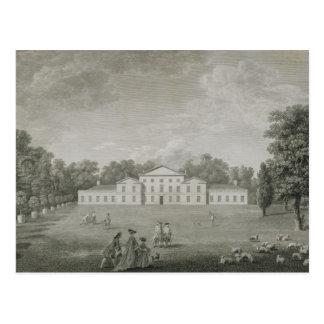 Ansicht des Palastes bei Kew vom Rasen, graviert Postkarte