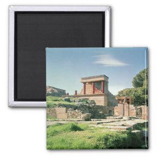 Ansicht des Palastes von Knossos Kühlschrankmagnet