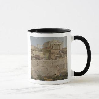 Ansicht des Parthenons vom Propylaea, Platte 7 Tasse