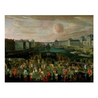 Ansicht des Pont Neuf und das Chateau du Louvre Postkarte