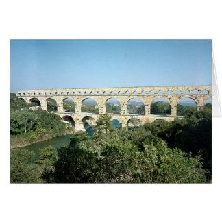 Ansicht des römischen Aquädukts, errichtetes c.19 Karte