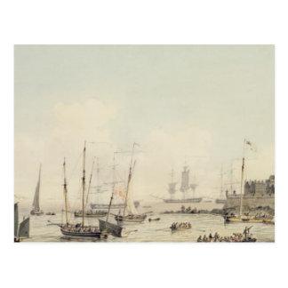 Ansicht des Schloss-Kornetts, Guernsey, mit Postkarte