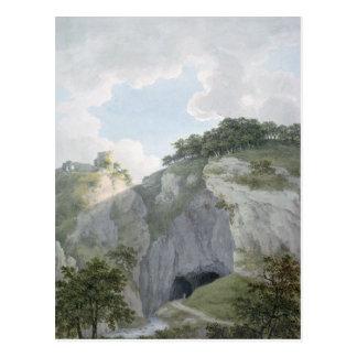 Ansicht des Schlosses und der Höhle bei Castelton Postkarte