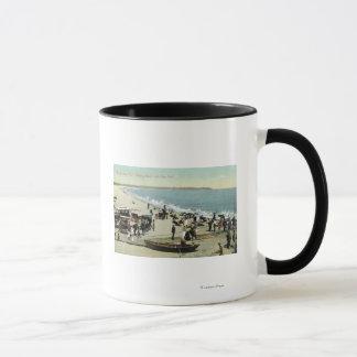 Ansicht des Strand-und Lehm-Kopfes Tasse