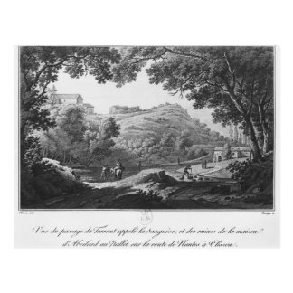 Ansicht des Stromes bekannt als La Sanguese Postkarte