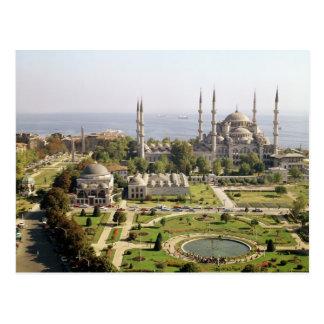 Ansicht des Sultans Ahmet Camii errichtete 1609-16 Postkarte