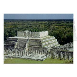 Ansicht des Tempels der Krieger geben ANZEIGE 150 Karte
