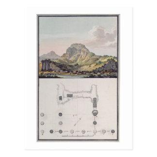 Ansicht des Theaters bei Sardis und ein Plan des Postkarte