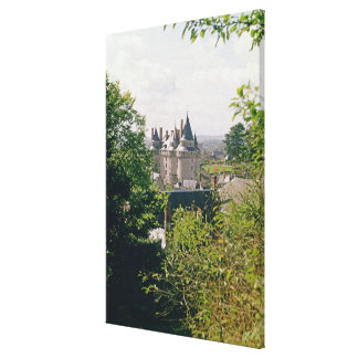 Ansicht des wieder hergestellten Chateaus vom Nord Galerie Falt Leinwand