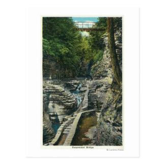 Ansicht einer Hängebrücke Postkarte