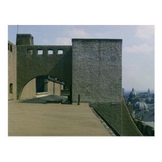 Ansicht eines Dachbogens vom Westen, aufgebaut Postkarte